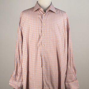 David Donahue Mens Shirt Size XXL Orange